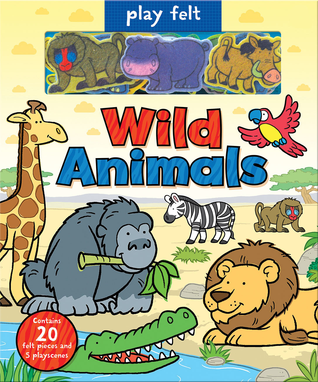 PLAY FELT WILD ANIMALS