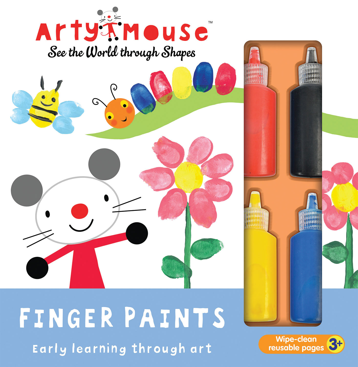 ARTY MOUSE FINGER PAINTS