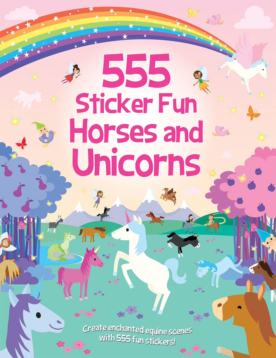 555 Sticker Fun Horses and Unicorns