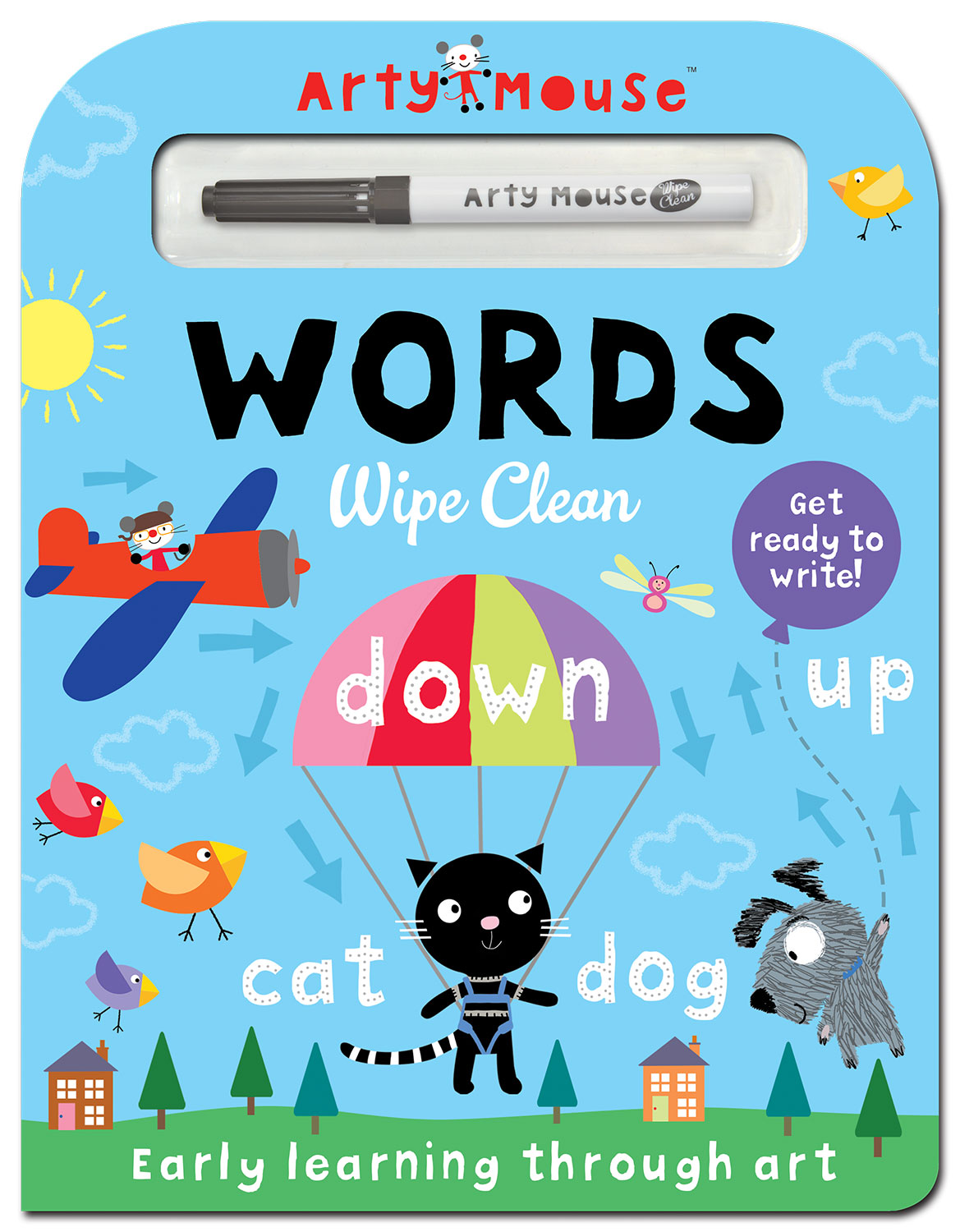 ARTY MOUSE WORDS WIPE CLEAN