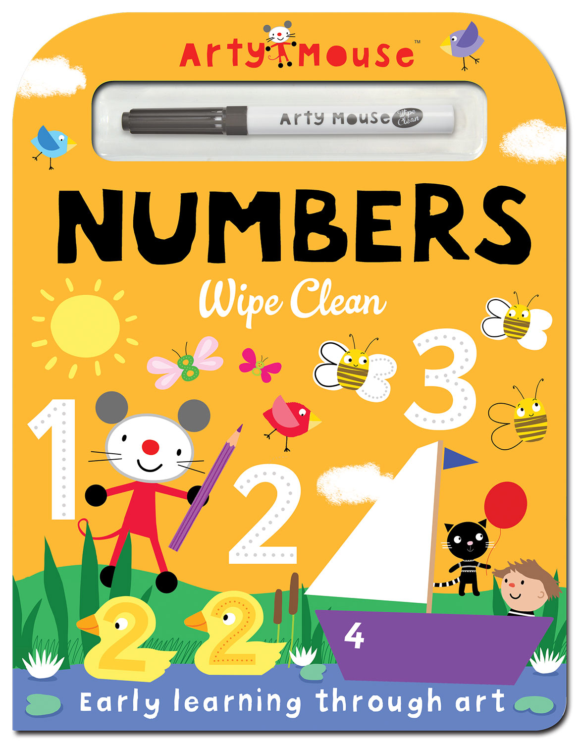 Arty Mouse Numbers Wipe Clean