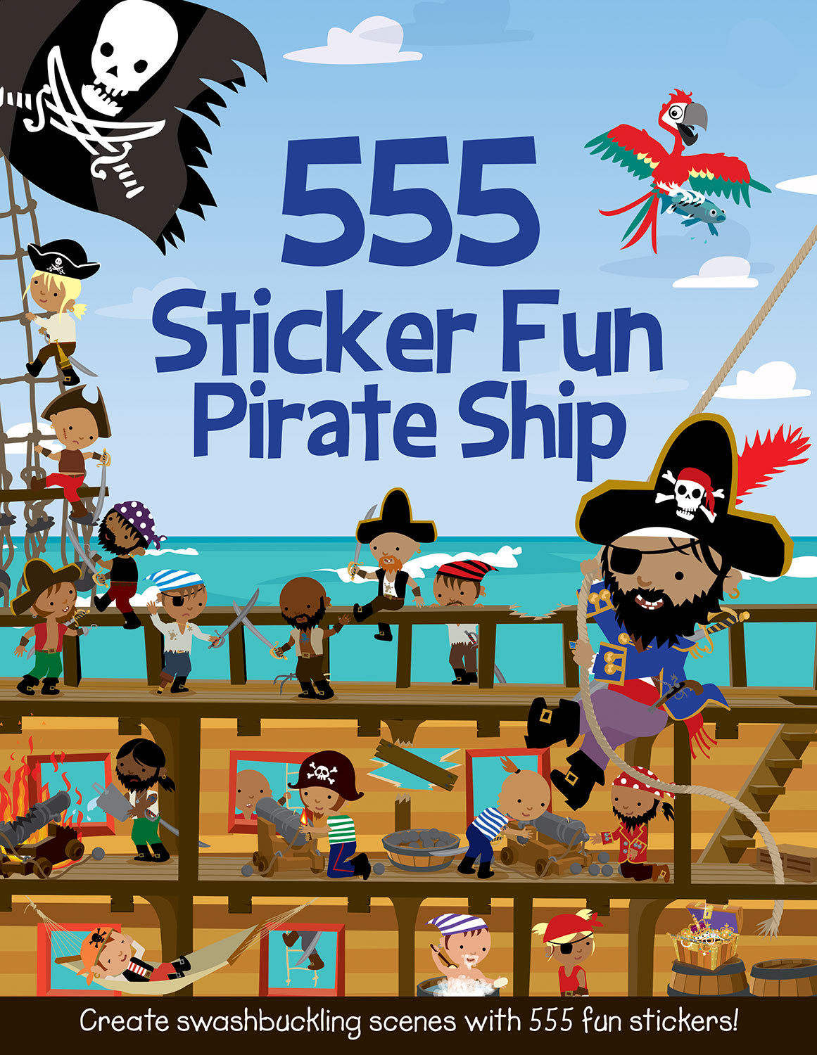 555 STICKER FUN PIRATE SHIP