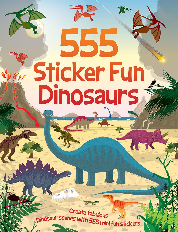555 Sticker Fun Dinosaurs